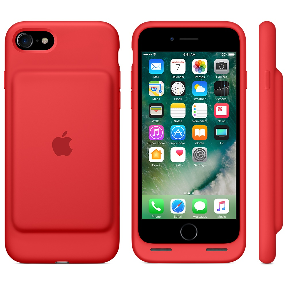 buy popular 8edfd ea7cf Чехол Apple Smart Battery Case for iPhone 8/7 Red