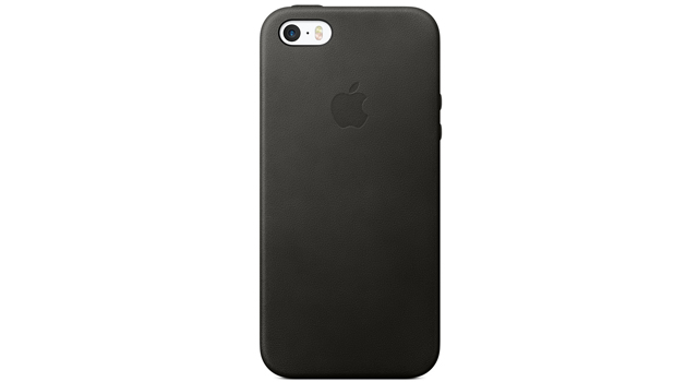 Apple Leather Case for iPhone SE Black