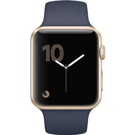Смарт Часы Apple Watch Series 1 38mm Gold Aluminum Case with Midnight Blue Sport Band