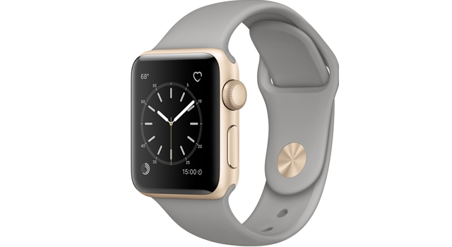 Смарт Часы Apple Watch Series 1 38mm Gold Aluminum Case with Concrete Sport Band