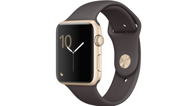 Смарт Часы Apple Watch Series 1 42mm Gold Aluminum Case with Cocoa Sport Band