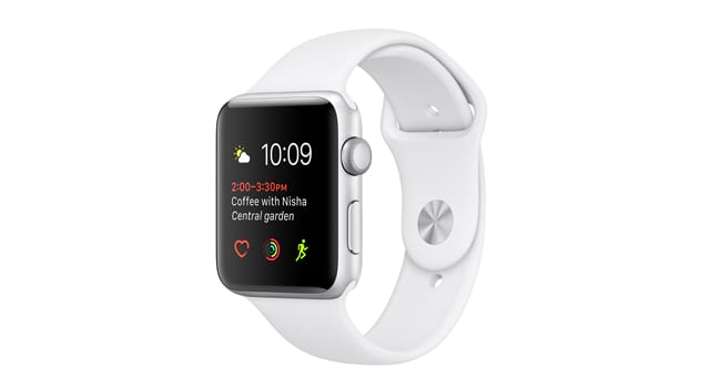Смарт Часы Apple Watch Series 1 42mm Silver Alluminum Case with White Sport Band