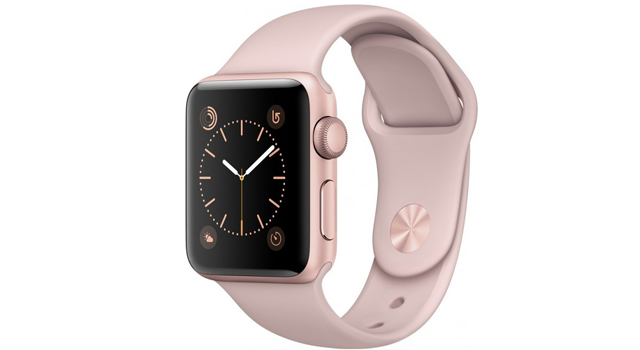 Смарт Часы Apple Watch Series 1 42mm Rose Gold Aluminium Case with Pink Sand Sport Band