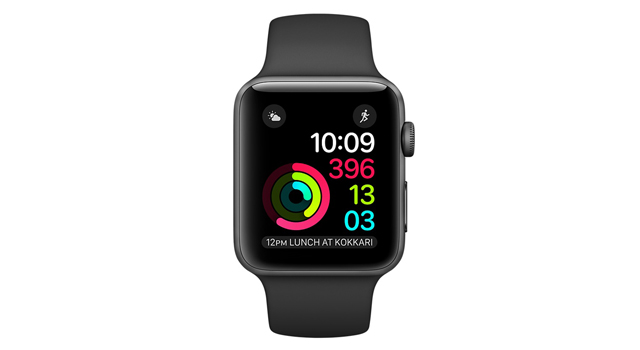 Смарт Часы Apple Watch Series 1 42mm Space Gray Alluminum Case Black Sport Band