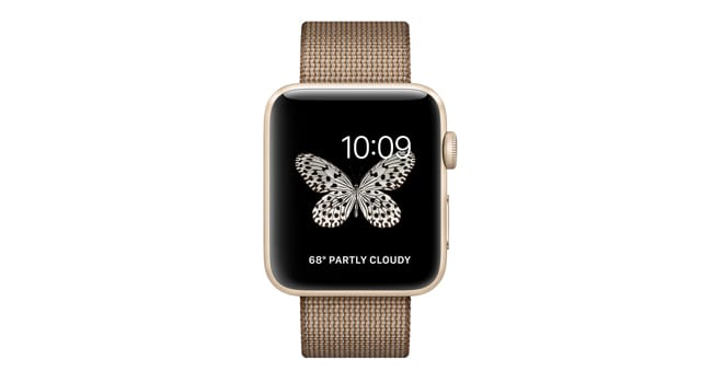 Смарт Часы Apple Watch Series 2 42mm Gold Aluminum Case with Toasted Coffee/Caramel Woven Nylon