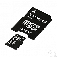 Карта памяти MicroSDHC 32 Gb Transcend (class 10) with adapter (UHS-I 300x)