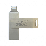 Внешний накопитель USB-Flash/Lightning 128 Gb Elari SmartDrive Silver